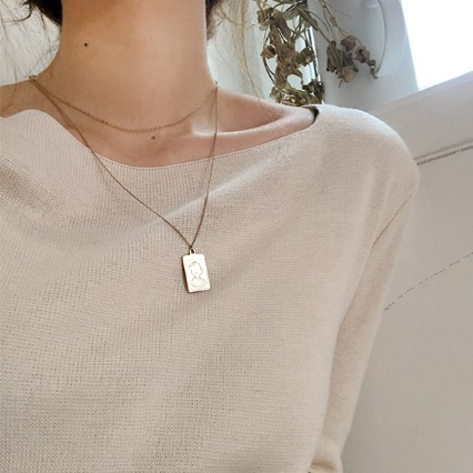 mini ellpe , 583 (necklace)